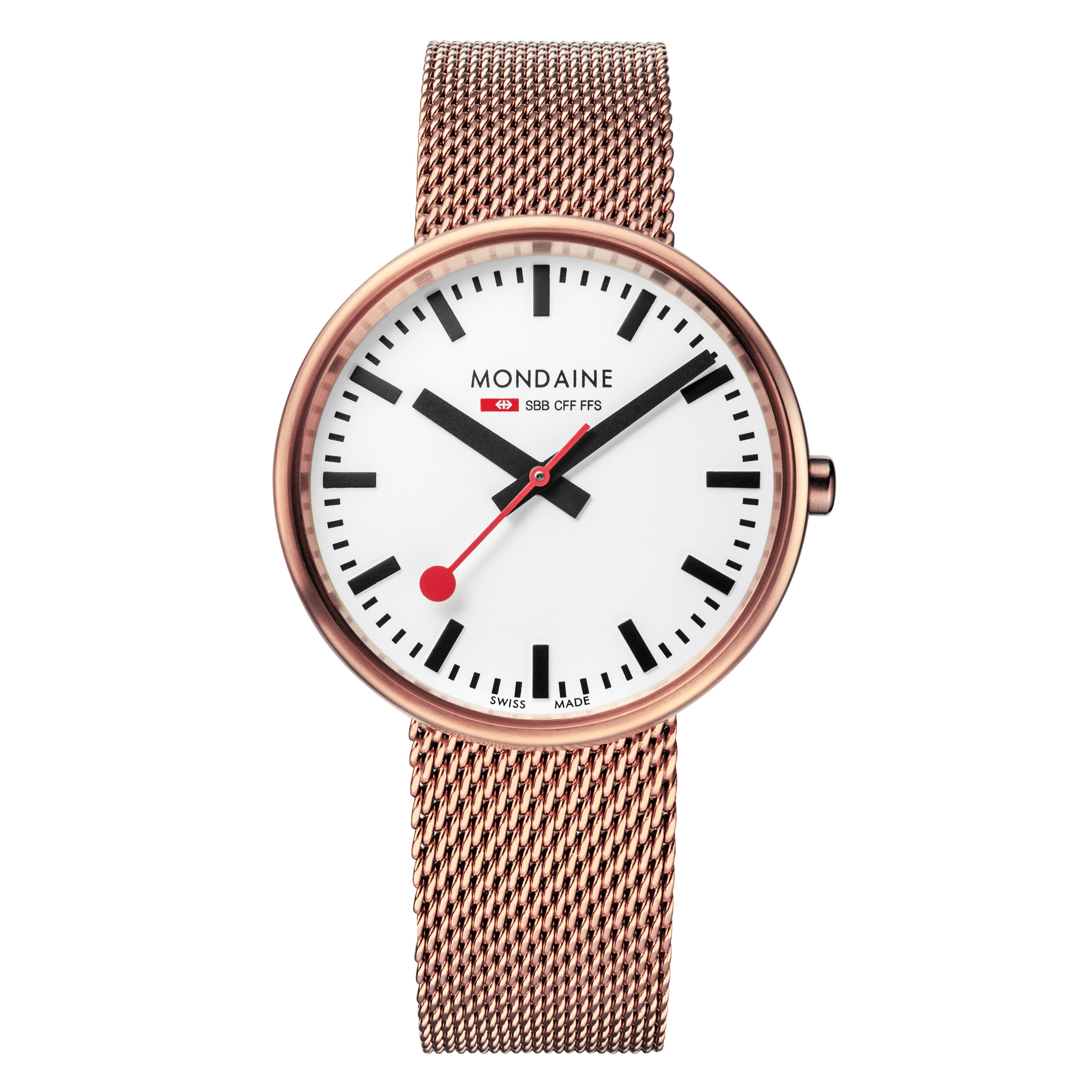 Mondaine adapts iconic Swiss Railways design to create contemporary timepiece