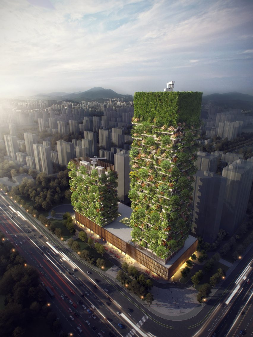 stefano boeri reveals plans for tree covered towers in nanjing boeri describes it as