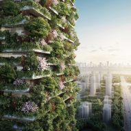 Stefano Boeri reveals plans for tree-covered towers in Nanjing