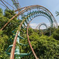 Deserted Japanese theme park photographed just before demolition