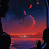 NASA marks discovery of multiple Earth-sized planets with retro travel poster