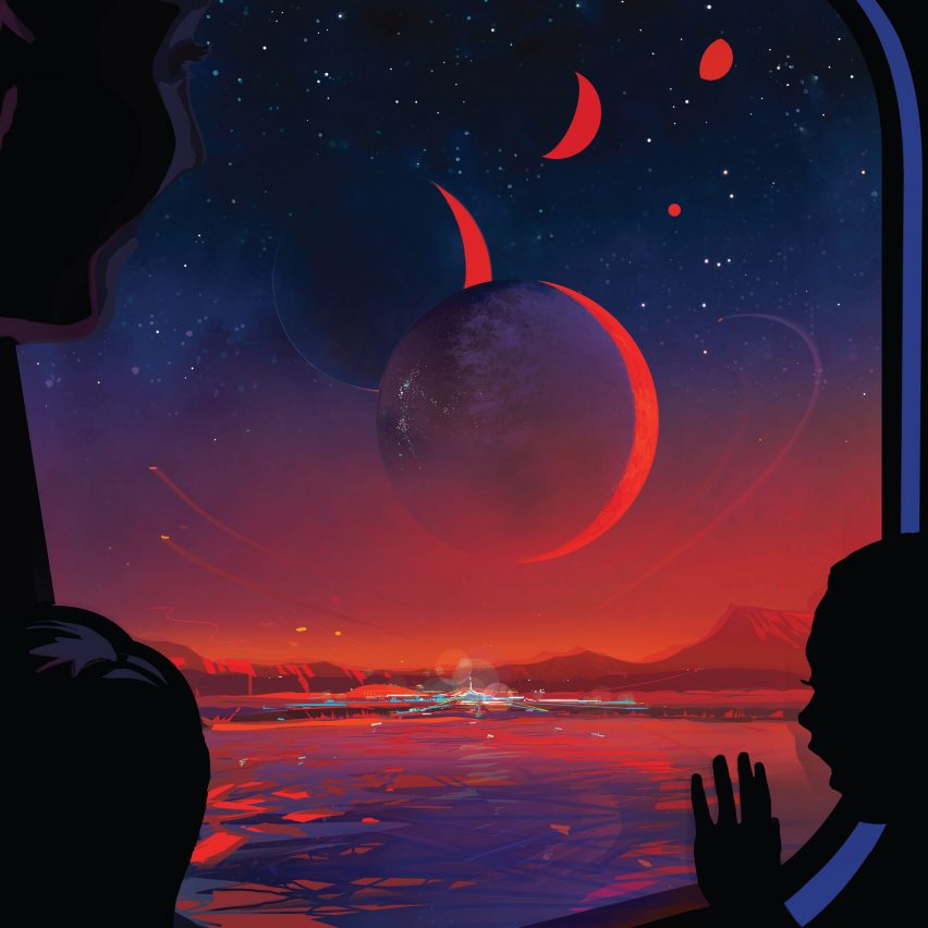 NASA TRAPPSIT-1e vintage travel poster