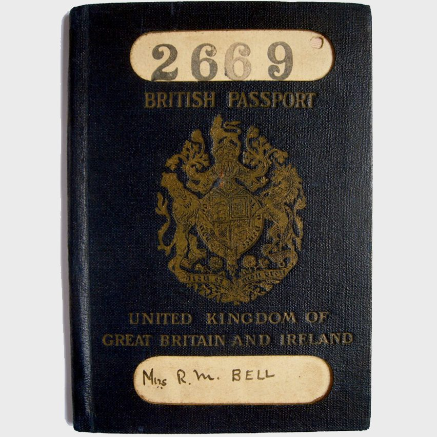 The old blue British passport