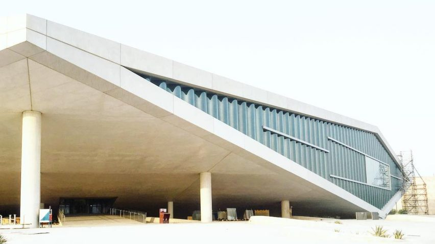 Oma designed qatar national library nears completion in doha omas qatar national library nears completion in doha malvernweather Image collections