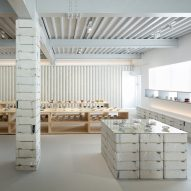 Do Do uses ceramic scraps to overhaul shop and gallery for Japanese porcelain brand