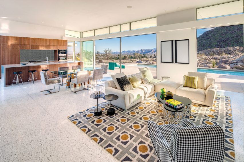 Interior of Palm Springs Chino Canyon home by Lance O'Donnell of o2 Architecture