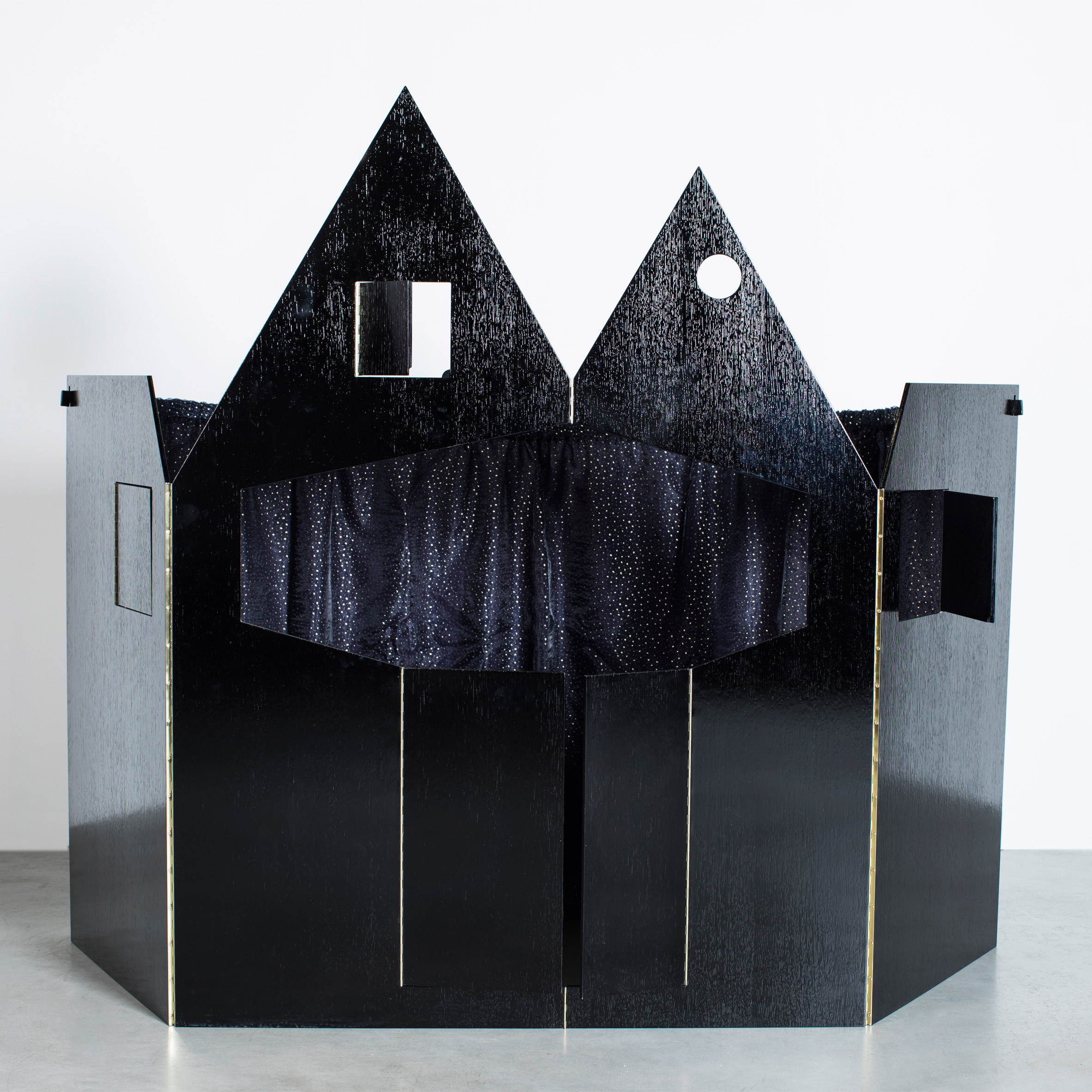 Robbrecht en Daem designs sombre-coloured puppet theatre influenced by fairytale castles