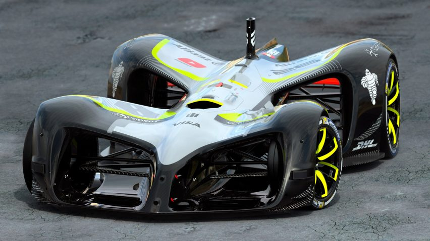 World S First Driverless Electric Race Car Unveiled At Mwc
