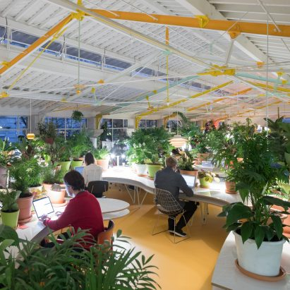 selgas cano office. SelgasCano Completes Plantfilled Coworking Space Inside Lisbon Market Hall For Second Home Selgas Cano Office