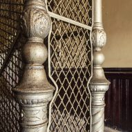 Stairwell Suicide Cage ornate metalwork Matt Van der Velde Architecture Abandoned Asylums Interior Jonglez Publishing
