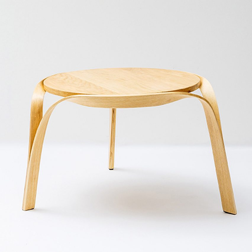 When I was first introduced to this technology  I immediately saw the  potential  as well as the magic   said the designer  who completed the  series as part. Bar Gantz uses steam bending to create twisted wood furnitureTrue