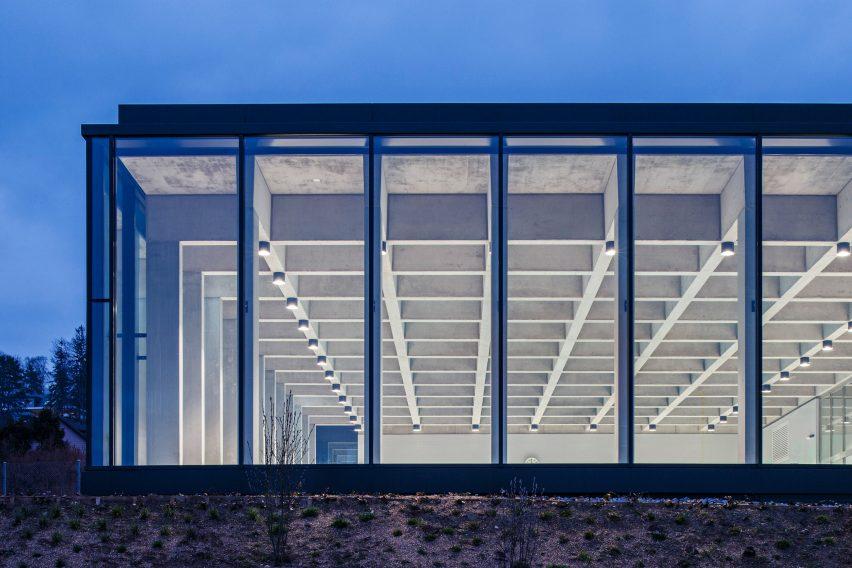 Illiz architektur sets childrens swimming pool above former