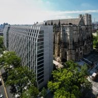 Apartment tower by Handel Architects built next to historic Manhattan cathedral