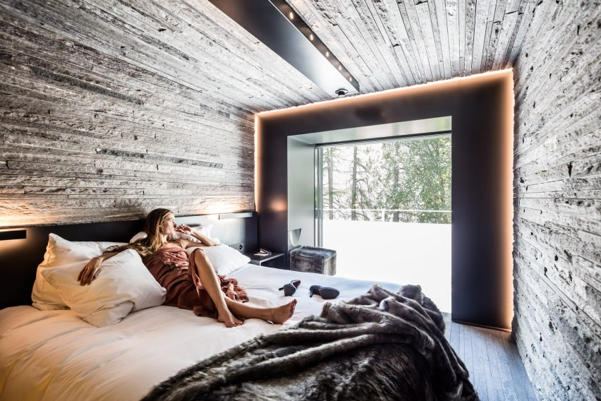 Morphosis designs bedrooms for hotel at Zumthors Vals spa