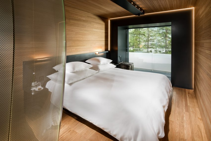 switzerland interior design morphosis designs bedrooms for hotel at zumthors vals spa