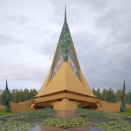 Frank Lloyd Wright's unbuilt Trinity Chapel brought to life in images by David Romero