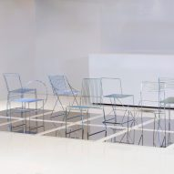 Aalto University students create 12 chairs using only steel rods