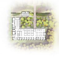 Plan of Washington Fruit Produce HQ Graham Baba Architects