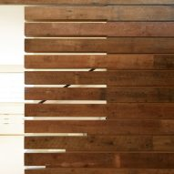 Detail wood panneling of Washington Fruit Produce HQ Graham Baba Architects