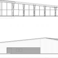 Elevation of Washington Fruit Produce HQ Graham Baba Architects