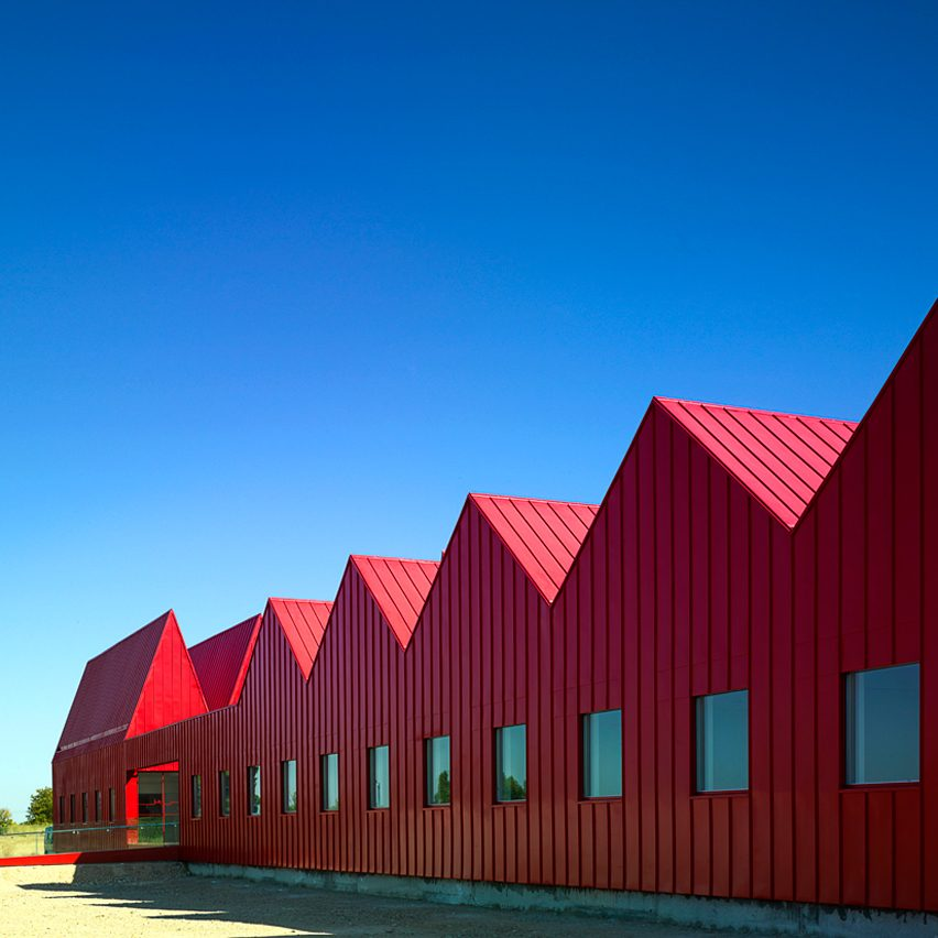 G///bang's bright red psychiatric centre in Spain