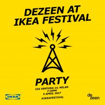 Dezeen at IKEA Festival party invitation