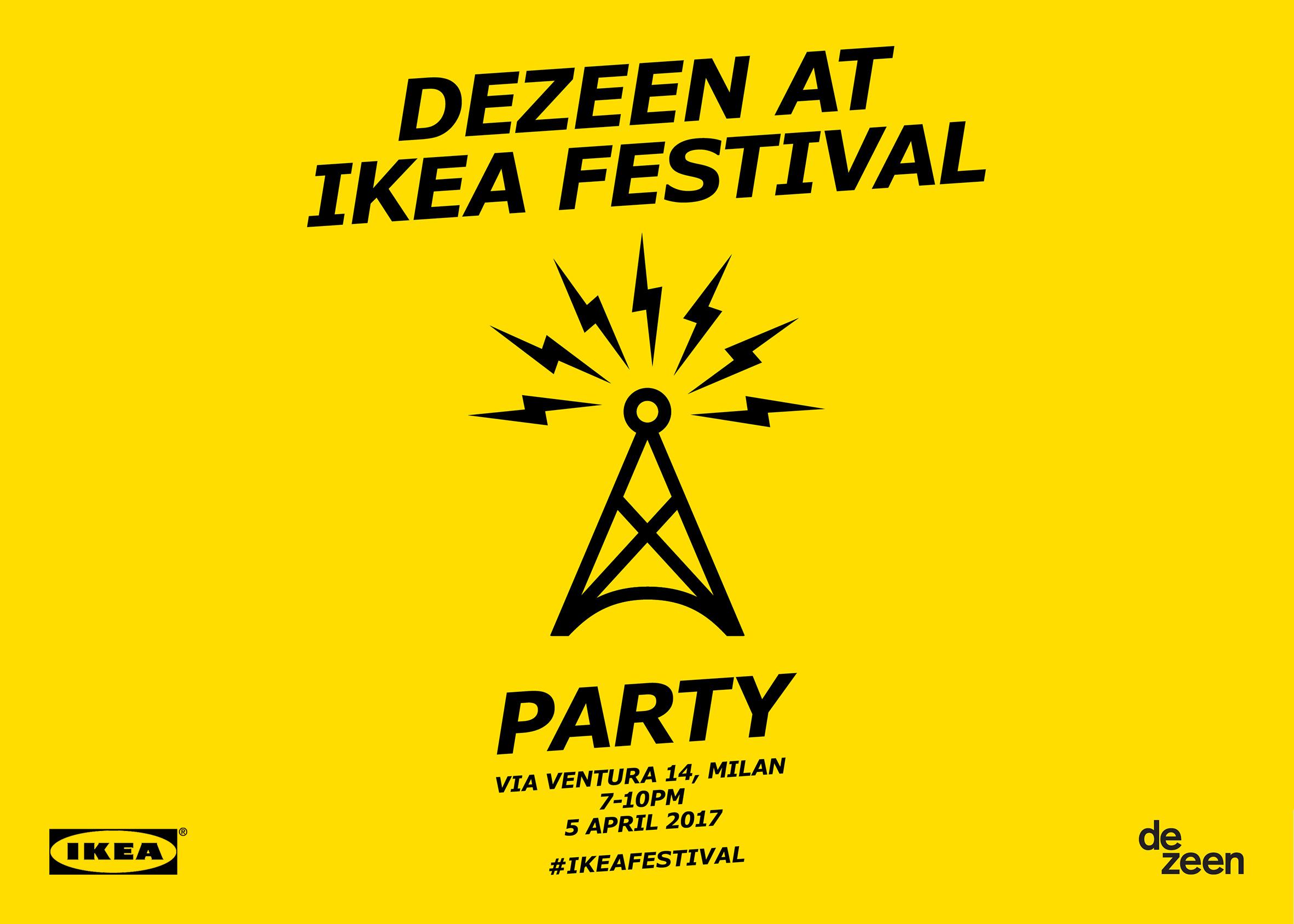 Dezeen at IKEA Festival Party