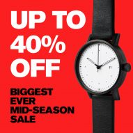 Dezeen Watch Store launches biggest ever mid-season sale