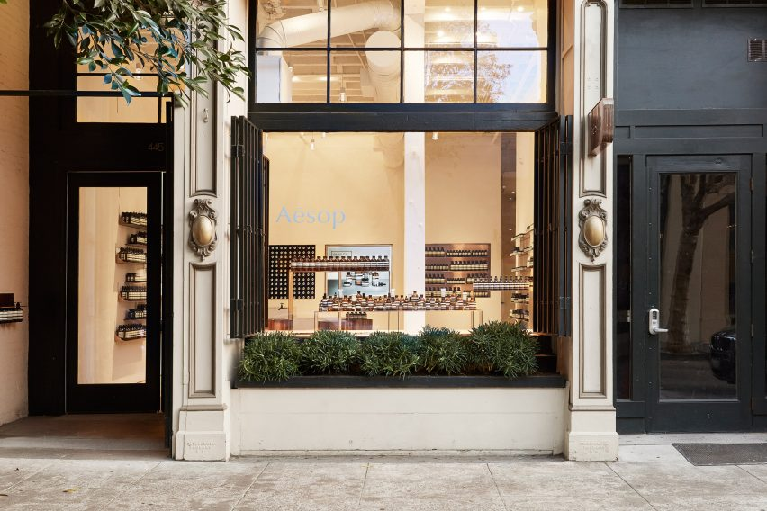 Facade - Aesop store in San Francisco Jaskson Square by Tacklebox