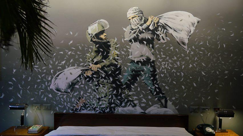 Banksy opens art-filled Walled Off Hotel on Israeli West Bank barrier