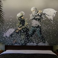 Banksy opens art-filled Walled Off Hotel on Israeli West Bank barrier