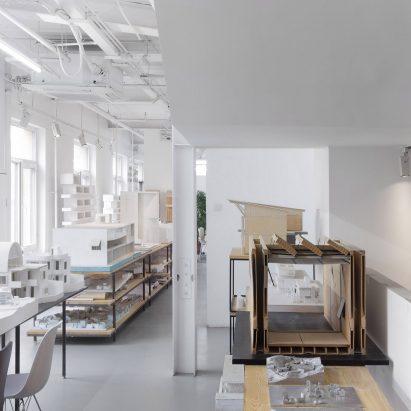 Empty architecture studio