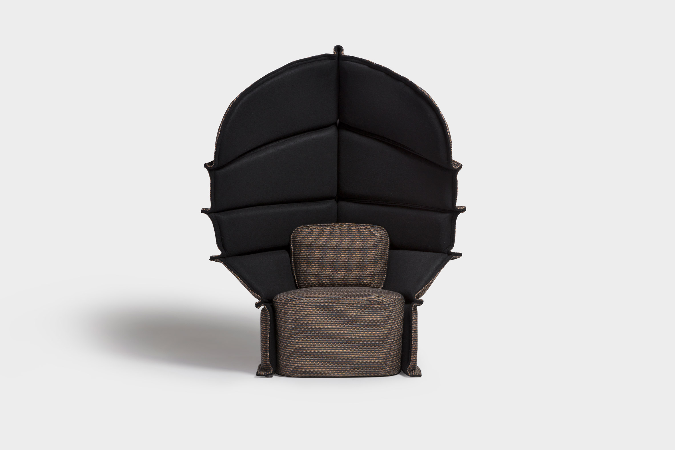 Färg & Blanche uses Bolon fabric to create samurai-inspired Long Neck armchair