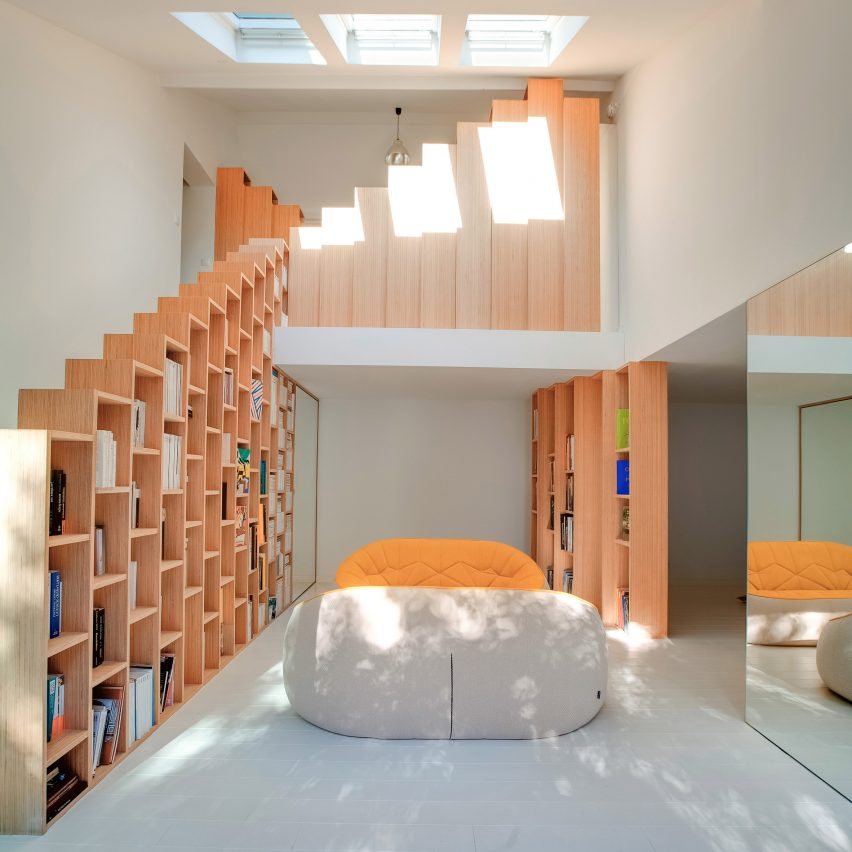 Delightful Bookshelf House, France, By Andrea Mosca