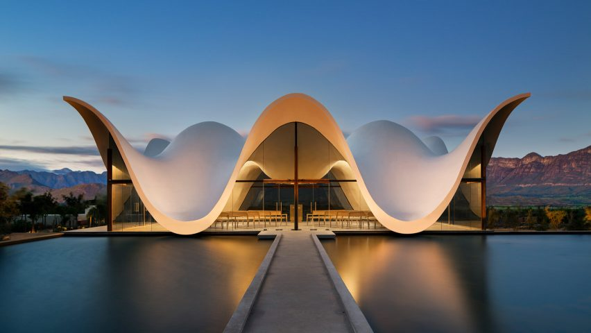 Steyn Studiou0027s Chapel Frames Dramatic Views Of South African Countryside  Below Its Sinuous Roof