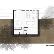 Plan for The Box, the Gangi Residence by Bamesberger Architecture