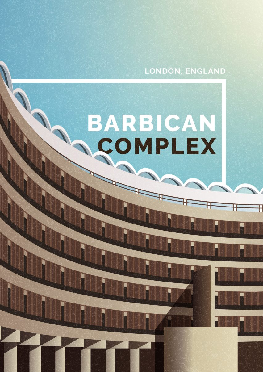 Brutalist illustrations by Marta Colmenero for GoCompare