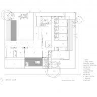 Plan of Casa Alto de Pinheiros by AMZ Arquitetos