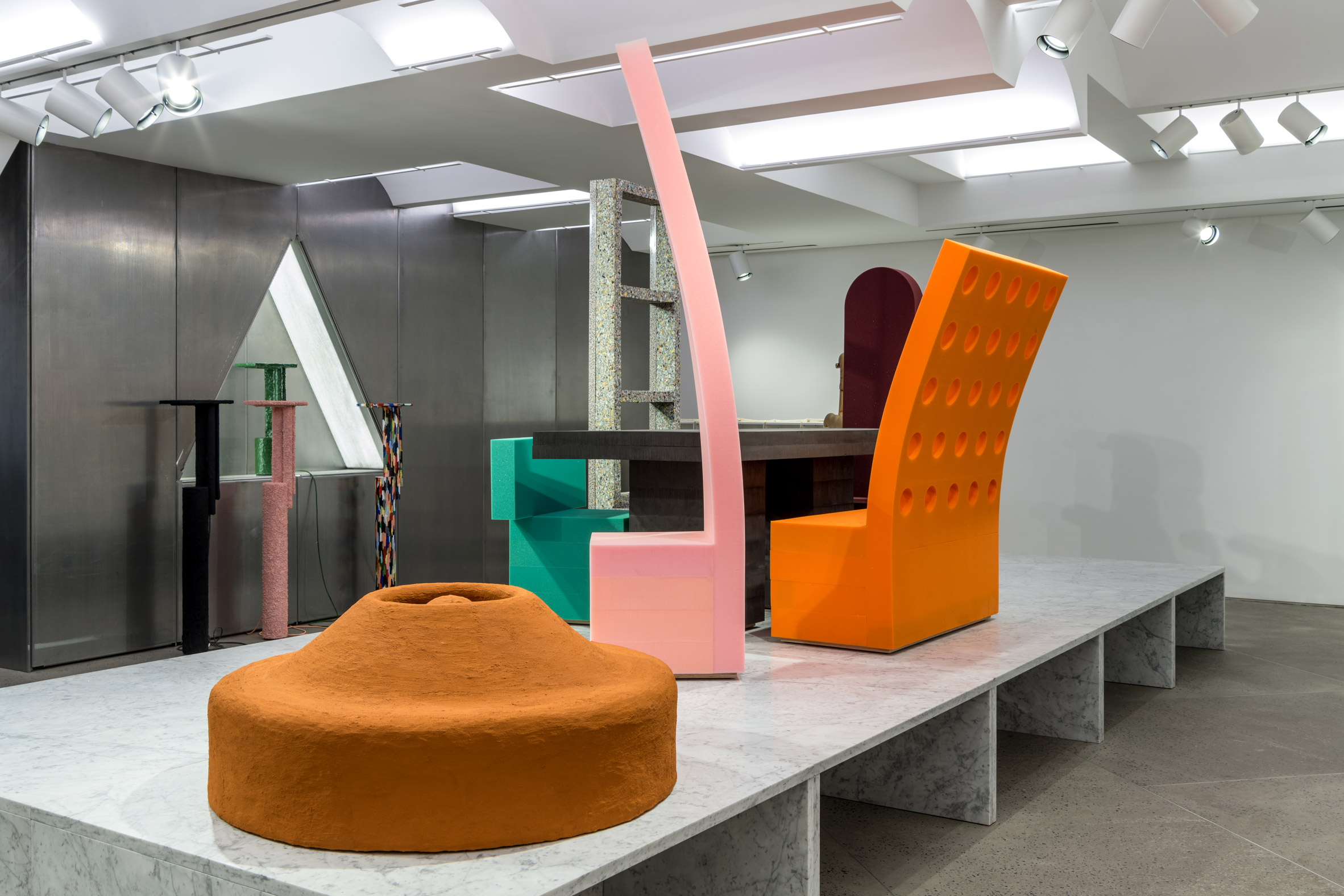 Cartoon furniture among unconventional domestic items on show at New York's Chamber gallery