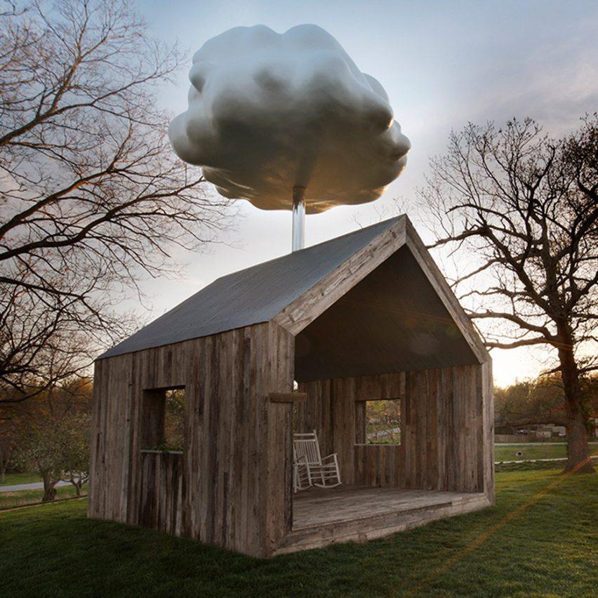 Matthew Mazzotta's Cloud House receives a rain shower when occupied