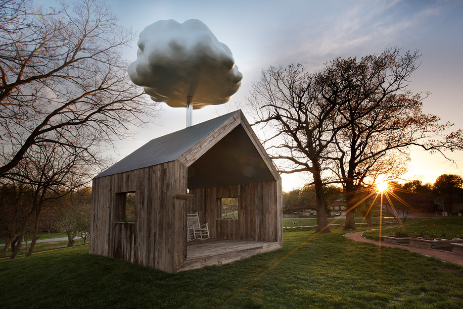 Matthew Mazzotta's Cloud House receives a rain shower when occupied