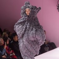 Comme des Garçons creates bulbous, armless figures in The Future of Silhouette