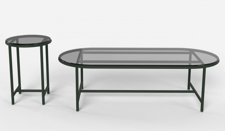 Milan: Contour Tables for Vincent Sheppard by Alain Gilles