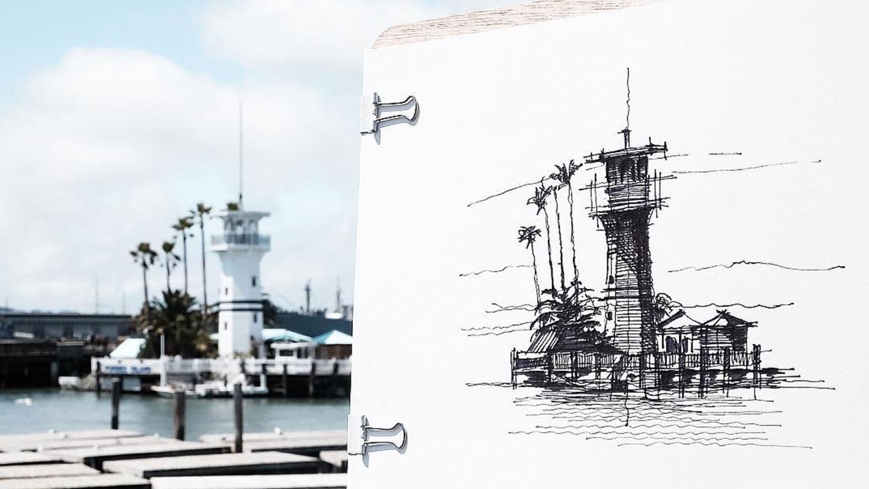 Dan Hogman's architectural sketches