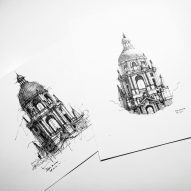 "Dan Hogman's architectural sketches ""capture the essence"" of their subjects"