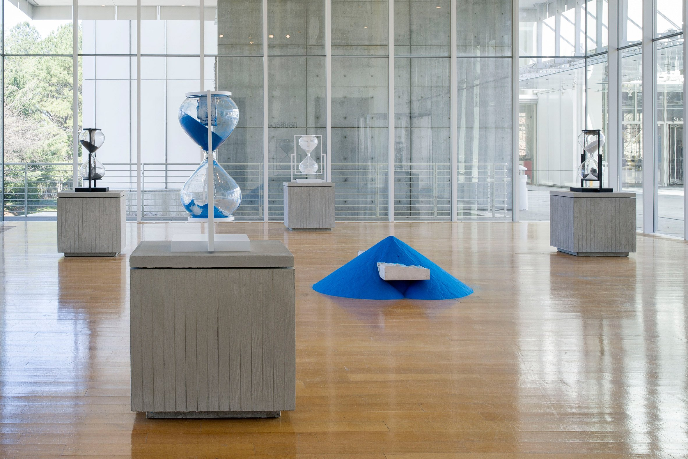 Daniel Arsham's Installation, Hourglass, at the High Museum of Art