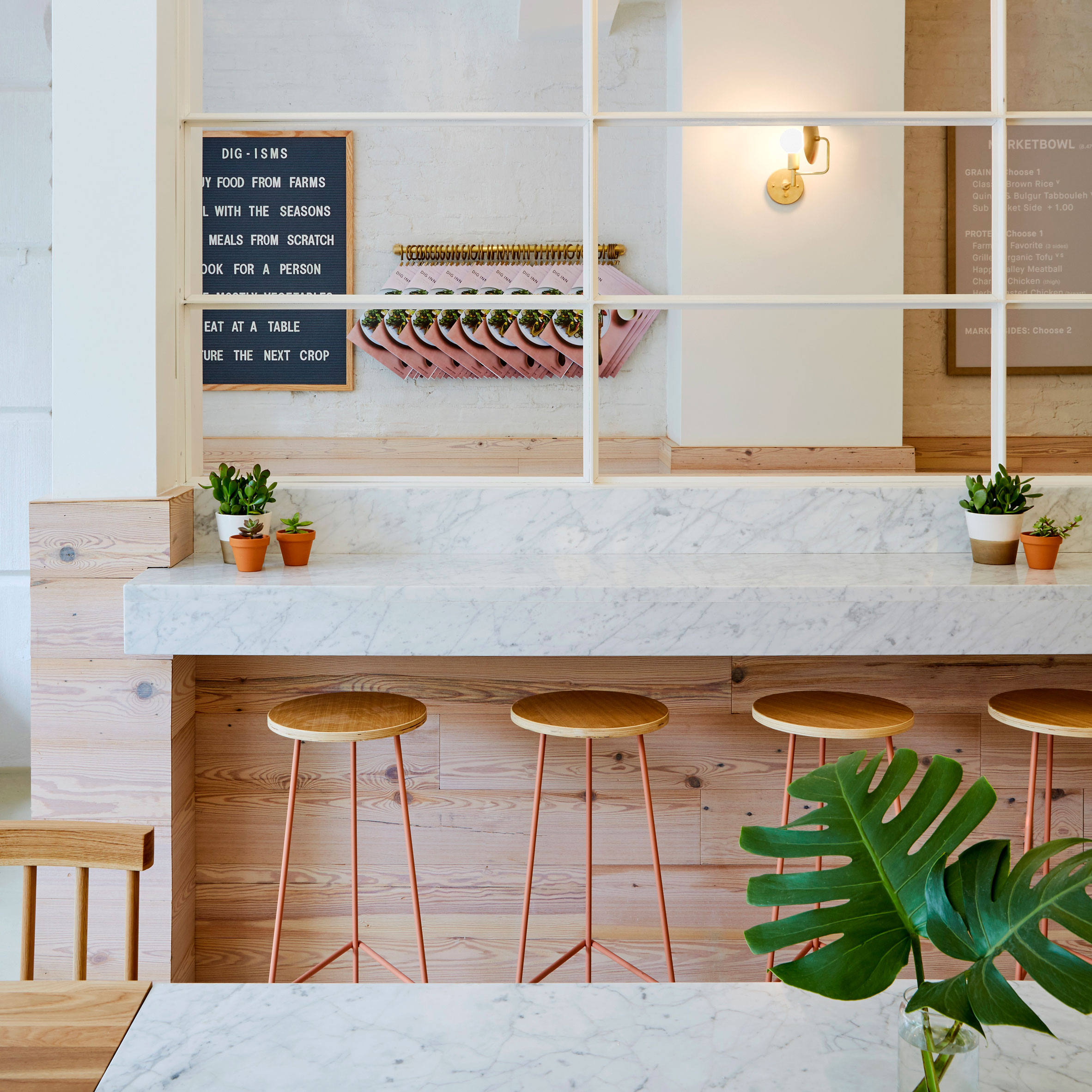 ASH NYC Adds Pops Of Pink To Dig Inn Boston Restaurant