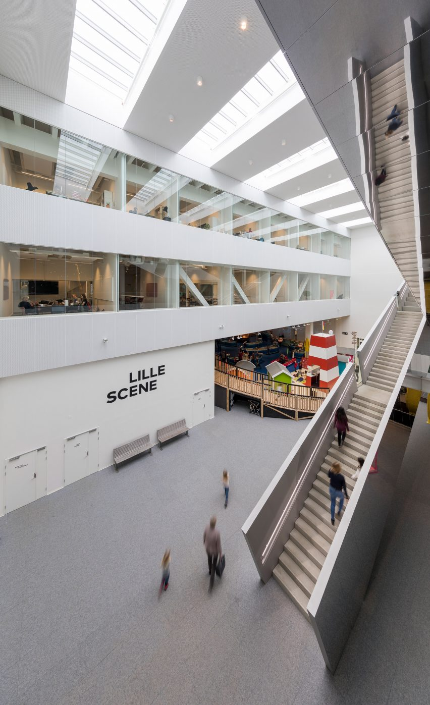 Copenhagens Experimentarium Features A Helical Staircase And