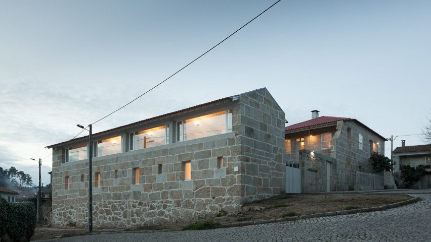 jos almeida transforms stone villa in rural portugal into holiday house