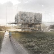 Bartlett students propose self-supporting pavilion made from felt